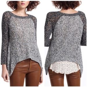 anthropologie LEIFNOTES dipped lace pullover XS